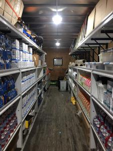 Completed Trailer Shelving Install 2